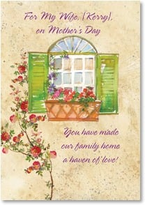 Mother's Day Card - For My Wife... | Gail Flores | 4_2001822-P | Leanin' Tree