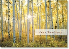 Personalized Stationery Card - Aspen Glow | John Fielder | 4_2002085-P | Leanin' Tree