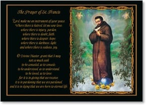 Blank Card with Scripture / Prayer - The Prayer of St. Francis | bCreative Inc. | 4_2002086-P | Leanin' Tree