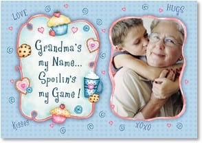 Blank Card with Quote / Saying - Grandma's my Name... Spoilin's my Game! | Barbara Ann Kenney | 4_2002564-P | Leanin' Tree