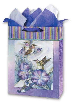 Gift Bag Set - Sale - Hummingbird Gift Bag Set - Large | Jody Bergsma | 53048 | Leanin' Tree
