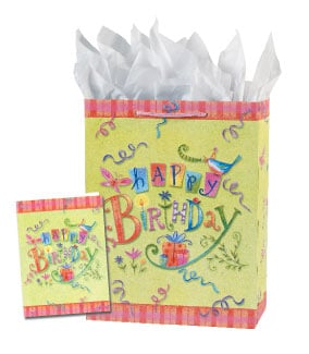 Gift Bag Set - Sale - Birthday Gift Bag Set - Large | Tina Wenke | 53050 | Leanin' Tree