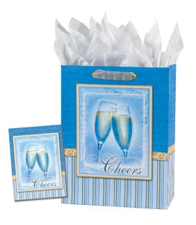 Gift Bag Set - Sale - Cheers Gift Bag Set - Large | Gail Marie® | 53054 | Leanin' Tree
