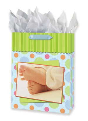 Gift Bag Set - Sale - Baby's Feet Gift Bag Set - Large | Getty Images | 53056 | Leanin' Tree