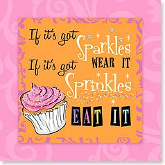 Napkins - If it's got sparkles, wear it...sprinkles, eat it | Working Girls Design, Inc. | 53057 | Leanin' Tree