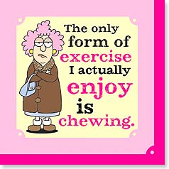 Napkins - The only form of exercise I actually enjoy... | Aunty Acid™ | 53060 | Leanin' Tree