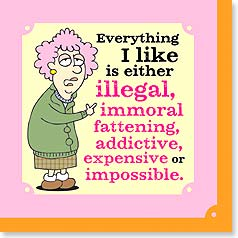 Napkins - Everything I like is either illegal, immoral... | Aunty Acid™ | 53062 | Leanin' Tree