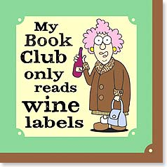 Napkins - My Book Club only reads wine labels | Aunty Acid™ | 53063 | Leanin' Tree
