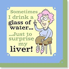 Napkins - Sometimes I drink a glass of water... | Aunty Acid™ | 53064 | Leanin' Tree