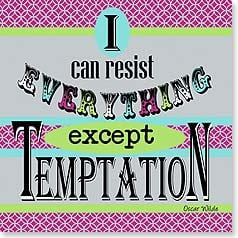 Napkins - I can resist everything except temptation | Working Girls Design, Inc. | 53066 | Leanin' Tree