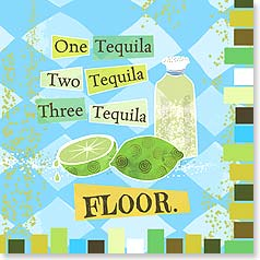 Napkins - One Tequila Two Tequila Three Tequila FLOOR. | LT Studio | 53070 | Leanin' Tree