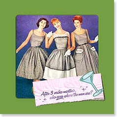 Napkins - After 3 vodka martinis, who cares where the men are? | Postmark Press Inc. | 53077 | Leanin' Tree