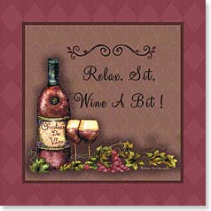 Napkins - Relax, Sit, Wine a Bit! | Barbara Ann Kenney | 53082 | Leanin' Tree