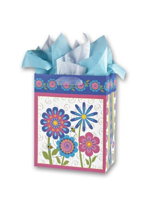 Gift Bag Set - Sale - Flower Gift Bag Set - Medium | Vicky Howard | 53402 | Leanin' Tree