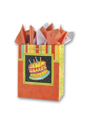 Gift Bag Set - Sale - Birthday Cake - 53406 | Leanin' Tree