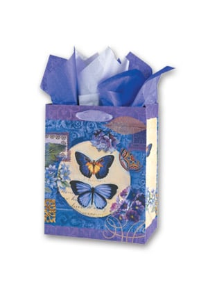 Gift Bag Set - Sale - Butterfly Gift Bag Set - Medium | Elizabeth Brownd | 53413 | Leanin' Tree