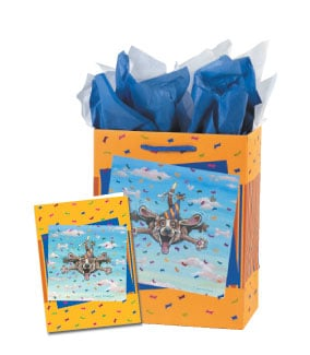 Gift Bag Set - Sale - Flying Dog Gift Bag Set - Medium | Gary Patterson | 53419 | Leanin' Tree