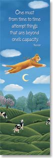 Bookmark - Cats | One Must Attempt Things - Renoir | Elizabeth Brownd | 54155 | Leanin' Tree