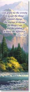 Bookmark - Quote: Scenic Waterfall with Serenity Prayer | Charles H. Pabst | 54157 | Leanin' Tree