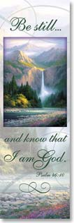 Bookmark - With Scripture | Be Still | Charles H. Pabst | 54158 | Leanin' Tree
