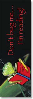 Bookmark - Don't Bug Me - I'm Reading | Fotosearch | 54166 | Leanin' Tree