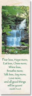 Bookmark - Waterfall with Rules to Live By For Good Life | Fotosearch | 54168 | Leanin' Tree