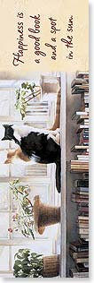 Bookmark - Happiness is a Good Book | Steve Hanks | 54216 | Leanin' Tree