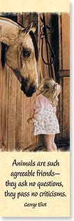 Bookmark - Quote: Animals are such agreeable friends | Lesley Harrison | 54220 | Leanin' Tree