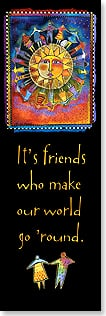 Bookmark - Friends Make Our World Go Round | Laurel Burch™ | 54225 | Leanin' Tree