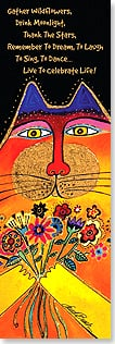 Bookmark - Live to Celebrate Life | Laurel Burch® | 54226 | Leanin' Tree
