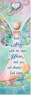 Bookmark - Seek Angels with an Open Heart | Connie Haley | 54228 | Leanin' Tree