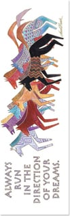 Bookmark - Artistic Horses | Laurel Burch® | 54236 | Leanin' Tree