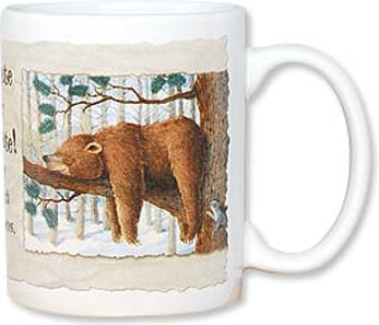 Ceramic Mug - Hibernate or Caffeinate! | Jeffrey Severn | 56069 | Leanin' Tree