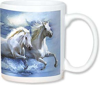 Ceramic Mug - White Horse | John Rowe | 56089 | Leanin' Tree
