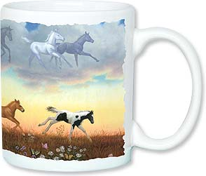 Ceramic Mug - Frolicking Foals | Ruth Sanderson | 56092 | Leanin' Tree