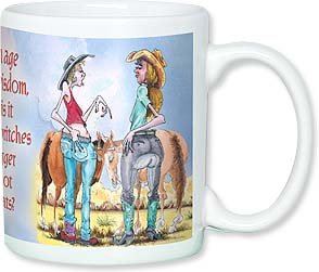 Ceramic Mug - Small Hats, Big Britches | Daryl Reed | 56098 | Leanin' Tree
