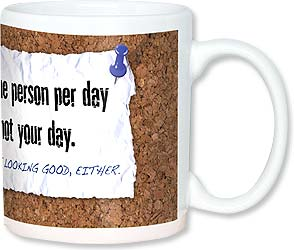 Ceramic Mug - Today is not your day | LT Studio | 56104 | Leanin' Tree
