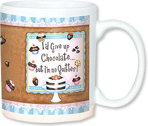 Ceramic Mug - I'm not giving up chocolate! | Barbara Ann Kenney | 56105 | Leanin' Tree