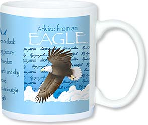 Ceramic Mug - Advice from an Eagle | Your True Nature® | 56106 | Leanin' Tree