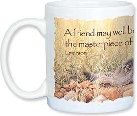 Ceramic Mug - A friend...the masterpiece of nature | Larry Fanning | 56118 | Leanin' Tree