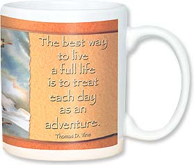 Ceramic Mug - Live each day as an adventure. | Jody Bergsma | 56134 | Leanin' Tree