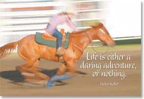 Flexible Magnet - Sale - Life is a Daring Adventure; Helen Keller quote | Fotosearch | 57073 | Leanin' Tree