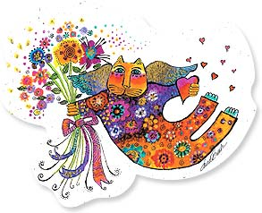 Flexible Magnet - Sale - Bouquet Kitty | Laurel Burch® | 57566 | Leanin' Tree