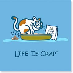 Flexible Magnet - Sale - Life is Crap - Cat | LIFE IS CRAP® | 57573 | Leanin' Tree