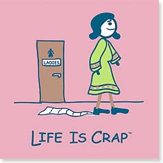 Flexible Magnet - Sale - Life is Crap - Toilet Paper | LIFE IS CRAP® | 57575 | Leanin' Tree