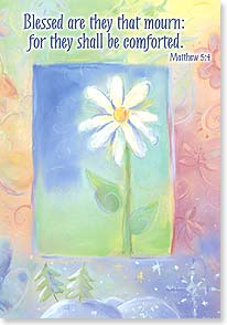 Sympathy Card - White Daisey: Matthew 5:4 | Pepper Tharp | 59184 | Leanin' Tree