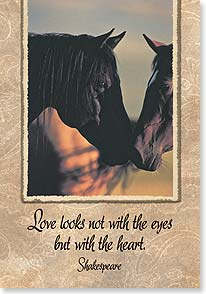 Love & Romance Card - Love Looks with the Heart | David R. Stoecklein | 59476 | Leanin' Tree