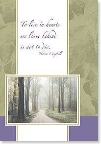 Sympathy Card - Staff Pick - To Live In Hearts Left Behind | Masterfile Corporation | 59585 | Leanin' Tree