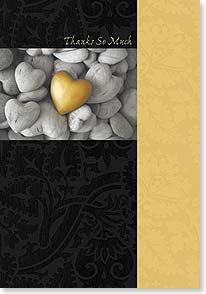 Thank You & Appreciation Card - A Heart Of Gold | Fotosearch | 59586 | Leanin' Tree