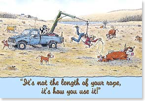 Birthday Card - Funny | It's Not The Length Of Your Rope | Crash Cooper | 59926 | Leanin' Tree